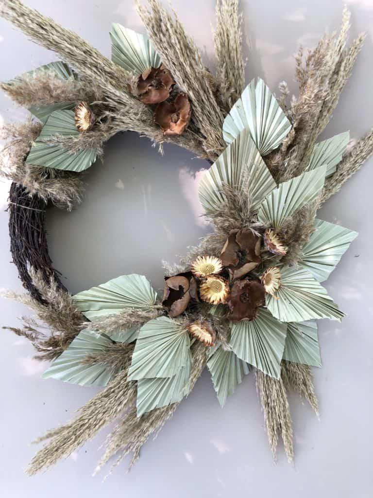 Krans med Palmeblader